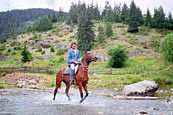 Horse riding in The Rhodope Mountains