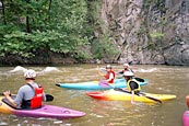Kayaking on one of the Rhodope rivers