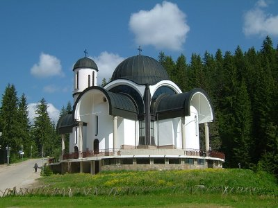 The beautiful Church in Pamporovo