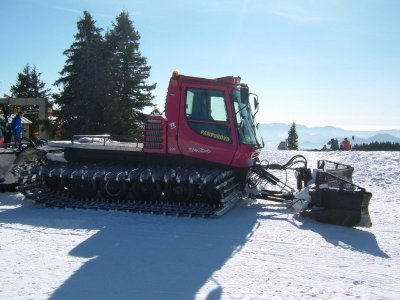 Pamporovo snow plough at the ready