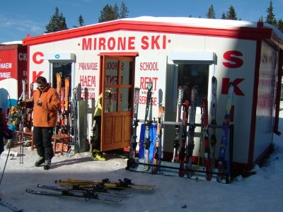 One of the many places to hire your ski gear