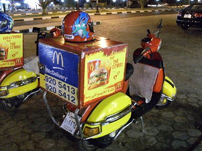 Why not have a McDonald takeaway delivered to your door?