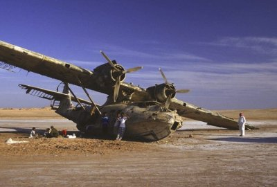 the wreck of a PBY-5/BuNo. 48397 sea plane