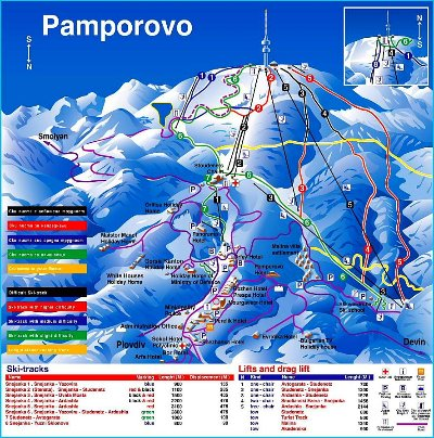 The Pamporovo Piste Map